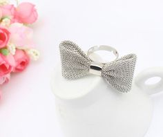 Mesh Bow Fashion Ring from LilyFair Jewelry.