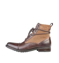 Stivaletti stringati in pelle marroni cuoio Levi s shoes Stivaletti Desert  Boot 4b215dd858c