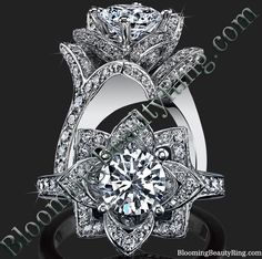 http://www.bloomingbeautyring.com/all-flower-engagement-rings/ #BeautifulPetra #EngagementRing