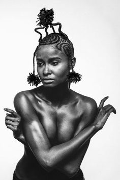 """Content With Confusion. From """"Black Women and Braids: Images Align . - My list of the most beautiful women's hair styles African Hairstyles, Afro Hairstyles, Black Women Hairstyles, Unique Hairstyles, African Beauty, Beautiful Black Women, Beautiful Eyes, Beautiful Pictures, Great Hair"""