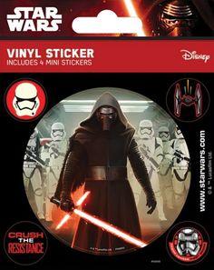 Pack de 5 Stickers STAR WARS - Kylo Ren www.rockagogo.com