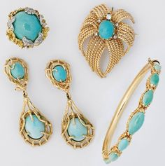 Gold Jewelry   PERSIAN TURQUOISE AND GOLD JEWELRY