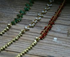 These simple jewelled collar length necklaces are selling like hot cakes  www.katieweiner.com