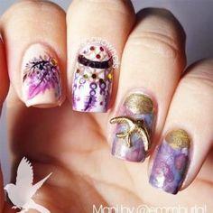 nail shapes for chubby fingers Nailart Nail Designs Pictures, Long Nail Designs, Winter Nail Designs, Beautiful Nail Designs, Nail Art Designs, Crazy Nail Art, Crazy Nails, Cool Nail Art, Nailart