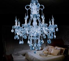 Cheap light relativity, Buy Quality light note directly from China light round Suppliers:  Modern luxurious European style restaurant Lustre crystal chandelier bedroom Hotel light fixture River Blue 8 heads