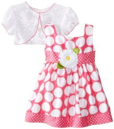 Youngland Baby-Girls Infant Glitter Dot Shantung Dress with Shrug, Pink/White, 12 Months Youngland http://www.amazon.com/dp/B00GH5IFRC/ref=cm_sw_r_pi_dp_0LqKtb0WNWCBJ3NW