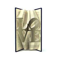 Book folding pattern - 2 different sizes included LOVE - 158 and 166 folds + Tutorial with Simple pattern - Heart - WO0104