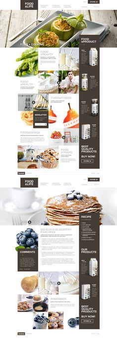 Concept work. Graphic design of a website and packaging by Malgorzata Studzinska [via Behance]  http://www.behance.net/gallery/Food-Life/4703815