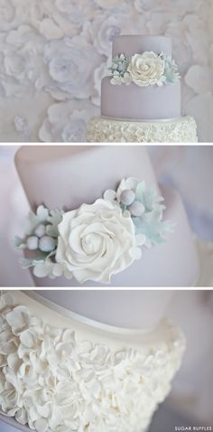 Dove Grey Wedding Cake | by Sugar Ruffles