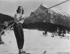 Ski tow on Mt. Norquay in Banff, Canada Ski Vintage, Vintage Ski Posters, Vintage Winter, Vintage Sport, Ski And Snowboard, Snowboarding, Skiing, Ski Canada, Banff Canada