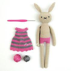 Polina Kuts: Платье для зайца крючком