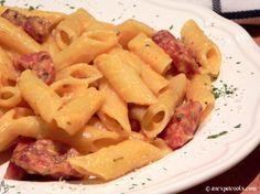 An Expat Cooks : Chorizo Carbonara--A Spanish twist on an Italian classic Classic Italian, Chorizo, Pasta Salad, Spanish, Cooking, Ethnic Recipes, Food, Vintage Italian, Crab Pasta Salad