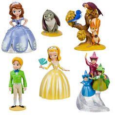 The young princess is here with her friends from the Disney Junior show Sofia the First.. Now your Sofia fan can create her own royal adventures with this 6-piece play set which includes Sofia, Amber and James.