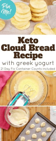 This keto Cloud Bread with Greek Yogurt is a delicious substitute for bread! Low carb and delicious, you can snack on this by itself or use it in recipes!
