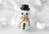 Happy Snowman Lampwork Bead
