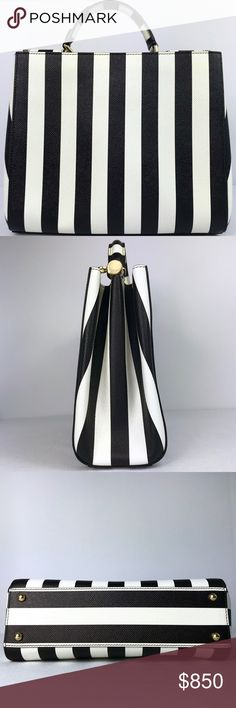 I just added this listing on Poshmark  Dolce   Gabbana Black White Sicily Bag  Striped. cefedb63ac