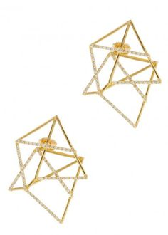 Deco gold-plated earrings - Jewellery - All Accessories - Women