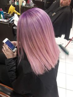 * Ideas Hair Color Blonde With Purple Ombre Dyes Awesome Awesome Новогодние . Hair Color Purple, Cool Hair Color, Pink Hair, Blue Hair, Purple Ombre, Hair Color Balayage, Hair Highlights, Cabello Hair, Coloured Hair