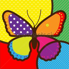 butterfly pop-art vector illustration for design Pop Art, Star Painting, Arte Country, Illustration, Butterfly Art, Barn Quilts, Tile Art, Throw Pillow Cases, Drawing For Kids