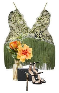 """""MIREYA"" Gatsby Tassel Dress"" by rblondon on Polyvore featuring Yves Saint Laurent and Giuseppe Zanotti"