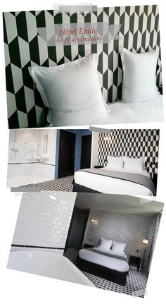 black and white  http://www.aufildescouleurs.com/magazine/19-un-duo-mythique-en-heritage. Cole & Son Tile wallpaper.