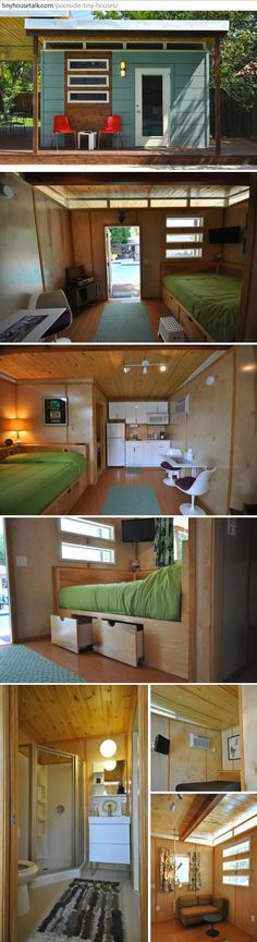#Beautiful tiny house #Beautiful container home. #Projet cabane #amenagement…