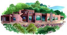 Exterior Custom Home Views - Lee Michael Homes Custom Builders in Albuquerque NM Custom Home Builders, Custom Homes, Southwestern Home, New Mexico, Exterior, House Design, Mansions, House Styles, Building