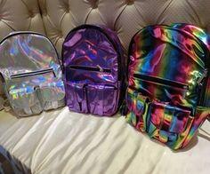 holographic   Tumblr Silver Backpacks, Cute Backpacks, Cheap Backpacks,  Unique Backpacks, Skateboard 9b662a4e64
