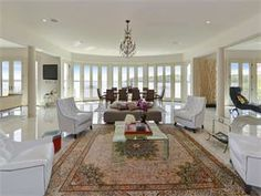 Living Room with Water View | Alexandria Virginia | TTR Sotheby's International Realty