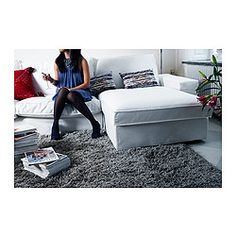 GÅSER Rug, high pile - 170x240 cm - IKEA Great idea to warm up a space and make it much more cozy!