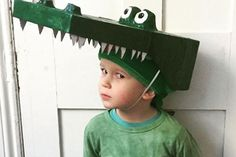 100 of the best World Book Day costume ideas - The Enormous Crocodile – 100 World Book Day costume ideas – Netmums - Roald Dahl Costumes, Book Costumes, World Book Day Costumes, Teacher Costumes, Book Character Costumes, Book Week Costume, Diy Costumes, Costume Ideas, Alligator Costume