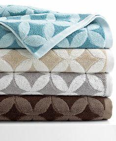 "Kassatex Bath Towels, Mosaic 18\"" x 28\"" Hand Towel"