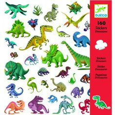 Djeco Dinosaur Stickers, 160 unique nautical dinosaur themed stickers for kids. Available in store at Giddy Goat Toys, Didsbury, Manchester, or on our online store. Sticker Paper, Toddler Toys, Kids Toys, Children's Toys, Dinosaur Toys, Dinosaur Party, Decorate Notebook, Creative Kids, Dinosaurs
