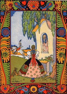 The amazing Willy Pogany (Hungarian) for Tisza Tales Art And Illustration, Illustrations Posters, Painting Inspiration, Art Inspo, Conte, Folk Art, Fairy Tales, Fine Art Prints, Drawings