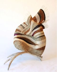 Pat Jeffers   'Taking flight'. Hand-dyed reed, coir and seagrass cord