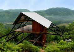 Treetop holiday home that stands between a rubber plantation and a jungle.