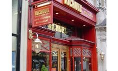 Richoux Café and Tea Room, Piccadilly, London. Perfect for pre-theater champagne and cake.