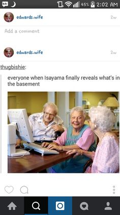 Hopefully there will be some other SNK fans at the  nursing home.