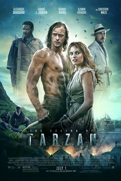 The Legend of Tarzan is a 2016 American action adventure film based on the fictional character created by Edgar Rice Burroughs. Directed by David Yates, the film stars Alexander Skarsgård as the title character, with Samuel L. Jackson, Margot Robbie, Djimon Hounsou, Jim Broadbent, and Christoph Waltz in supporting roles. Plot: Tarzan, having acclimated to life in London, is called back to his former home in the jungle to investigate the activities at a mining encampment.