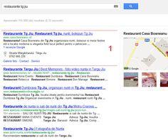 "Promovare restaurant Casa Bosneanu - Prima pozitie in Google (cautari organice) la cuvintele cheie ""restaurant tg jiu"" ""restaurante tg jiu""."
