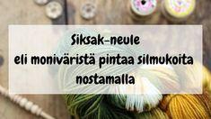 siksak-jättösilmukkaneule Crochet Socks, Knitting Socks, Knit Crochet, Mittens, Sewing Crafts, Knitting Patterns, Inspiration, Villas, Slippers