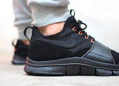 Nike Free Ace Leather: Black/Orange