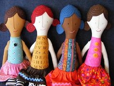 Free Sewing Pattern - Simple Rag Dolls With Pattern from the Toys