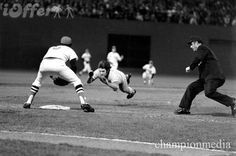 Classic head-first slide into 3rd vs Boston Red Sox...1975 World Series