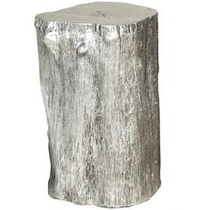 Silver Log Stool - Side Tables + Stools - Occasional Tables - Living