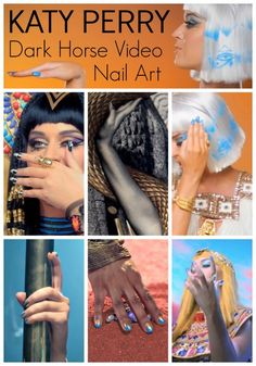 Katy Perry Dark Horse Video Nail Art