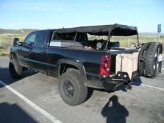 Spare tire on rear bumper!