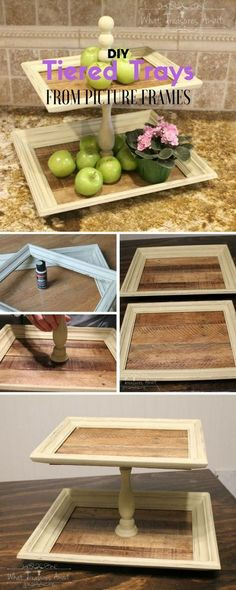 Check out the tutorial: #DIY Tiered Trays from Picture Frames /istandarddesign/
