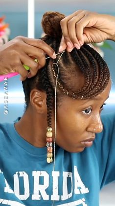 nappyme videos afro Side Bang Updo with Beads 🔥 Hair Twist Styles, Flat Twist Hairstyles, Braided Hairstyles For Black Women, African Braids Hairstyles, Curly Hair Styles, Natural Hair Styles, South African Dreadlocks Styles, Black Hairstyles Updo, Dreads Styles For Women