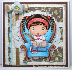 Marci in heart chair